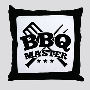 BBQ MASTER Throw Pillow