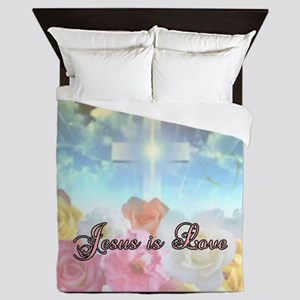 jesus love 10 Queen Duvet