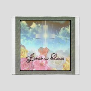 jesus love 10 Throw Blanket