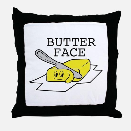 Butter Face Throw Pillow