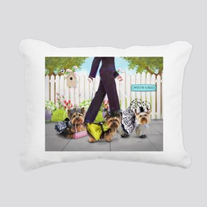 Owned By Yorkies Rectangular Canvas Pillow