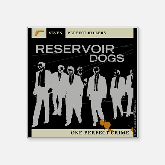 "Reservoir Dogs 7 Killers Square Sticker 3"" X 3"""
