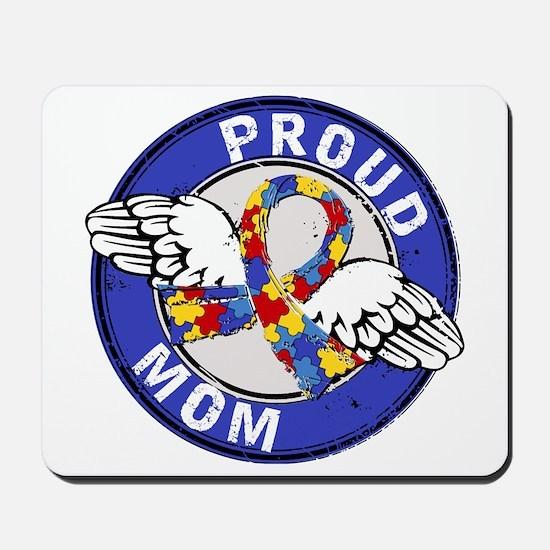 Proud Mom 3 Blue Autism Mousepad