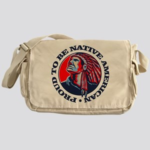 Proud Native American Messenger Bag