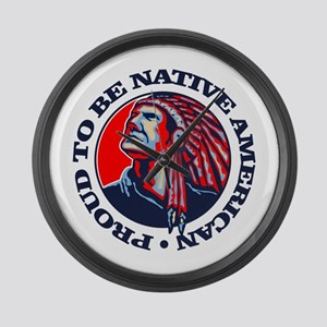 Proud Native American Large Wall Clock