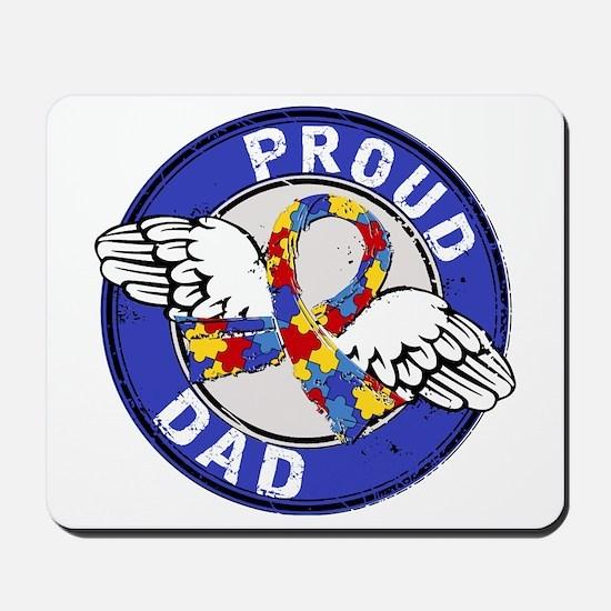 Proud Dad 3 Blue Autism Mousepad