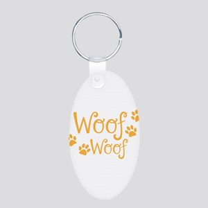 Woof Woof dogs doggy bark with doggy paws Keychain