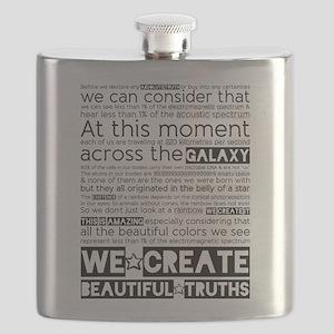 We Create Beautiful Truths Flask