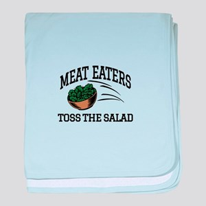 Meat Eaters Toss The Salad baby blanket
