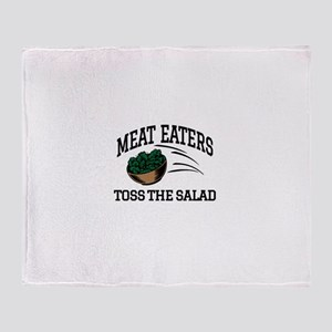 Meat Eaters Toss The Salad Throw Blanket