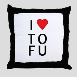 I Love ToFu Throw Pillow