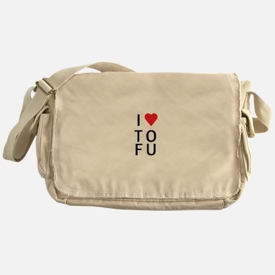 I Love ToFu Messenger Bag