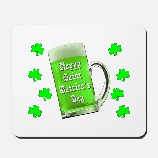 Shamrocks & Green Ale St. Patrick's Day Mousepad