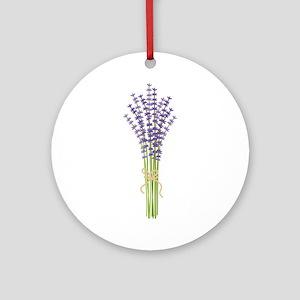 Bushel of Lavender Ornament (Round)