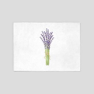 Bushel of Lavender 5'x7'Area Rug