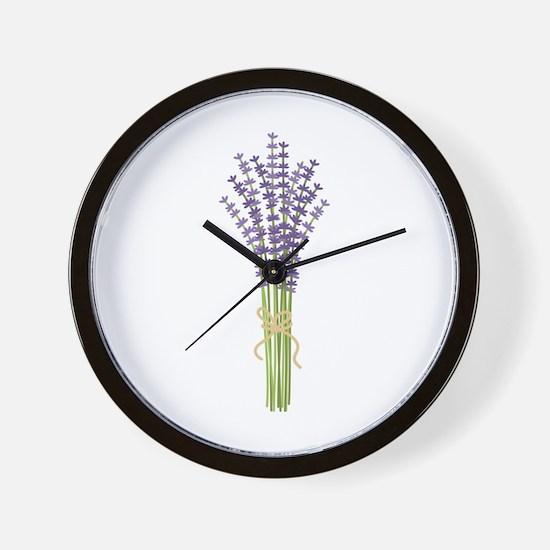Bushel of Lavender Wall Clock