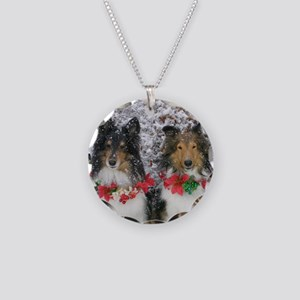Shetland Sheepdogs in the Sn Necklace Circle Charm