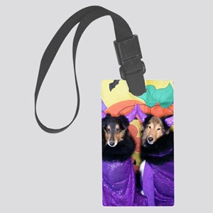 Two Shetland Sheepdogs as Divade Large Luggage Tag