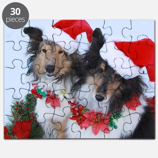 Christmas Santa Shelties Puzzle