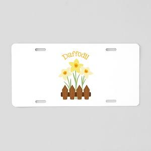 Daffodil Aluminum License Plate