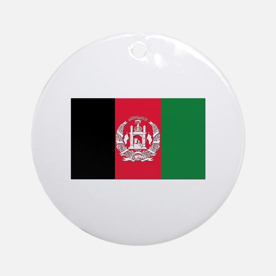 Flag of Afghanistan Ornament (Round)