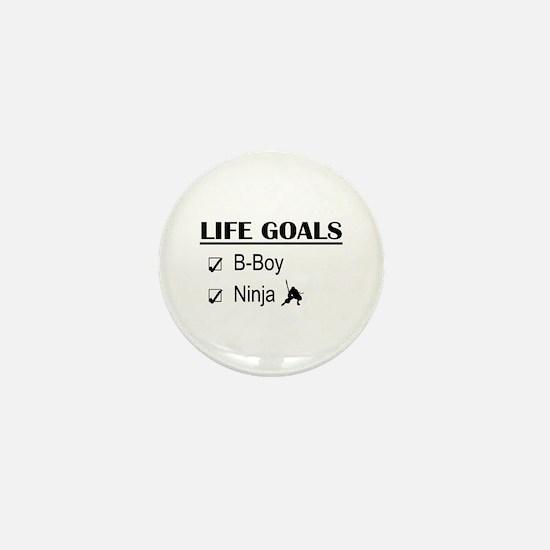 B-Boy Ninja Life Goals Mini Button