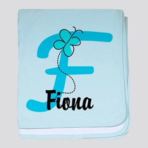 Personalized Initial F Monogram baby blanket
