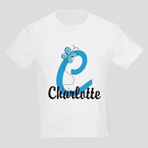 Personalized Initial C Monogram Kids Light T-Shirt
