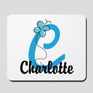 Personalized Initial C Monogram Mousepad