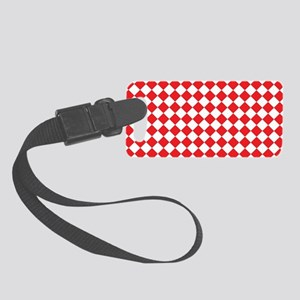 RED HARLEQUIN Small Luggage Tag