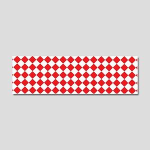 RED HARLEQUIN Car Magnet 10 x 3