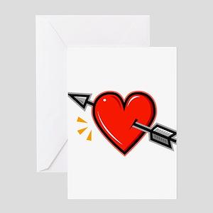 HEART_ARROW Greeting Cards