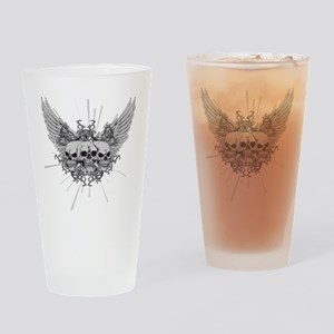 Winged Skulls Drinking Glass