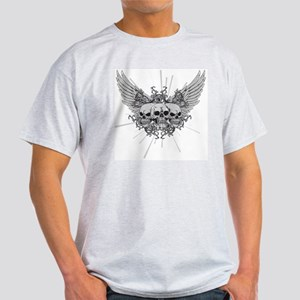Winged Skulls Light T-Shirt