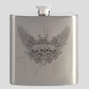 Winged Skulls Flask
