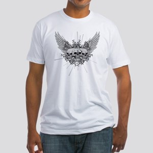 Winged Skulls Fitted T-Shirt