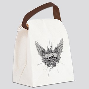 Winged Skulls Canvas Lunch Bag
