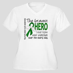 Bravest Hero I Kn Women's Plus Size V-Neck T-Shirt