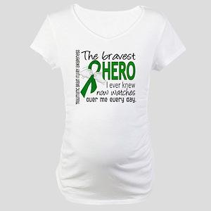 Bravest Hero I Knew TBI Maternity T-Shirt