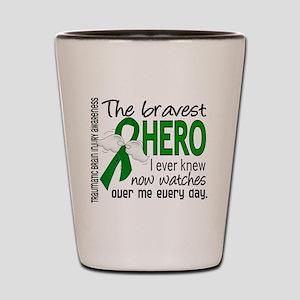 Bravest Hero I Knew TBI Shot Glass