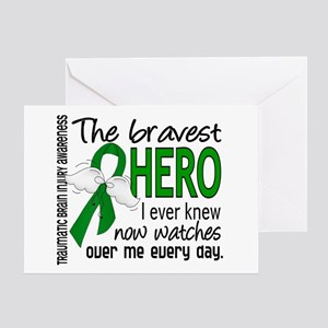 Bravest Hero I Knew TBI Greeting Card