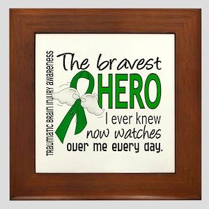 Bravest Hero I Knew TBI Framed Tile