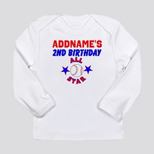 2 YR OLD BASEBALL Long Sleeve Infant T Shirt