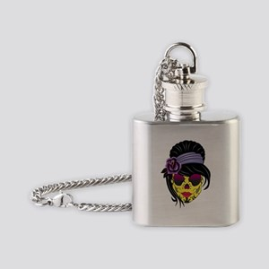 skull  Flask Necklace