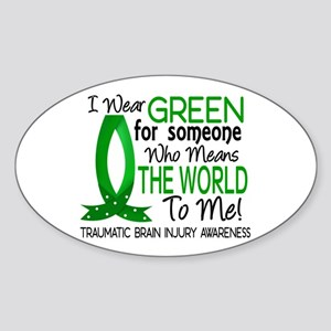 Means World to Me 1 TBI Sticker (Oval)