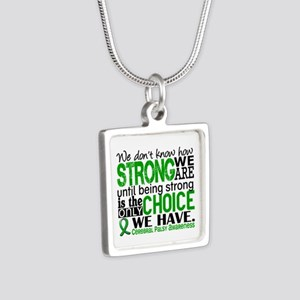 How Strong We Are Cerebral Silver Square Necklace