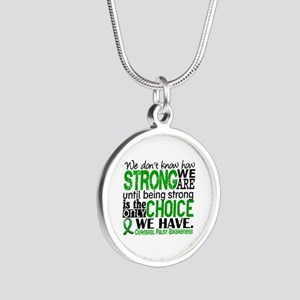 How Strong We Are Cerebral P Silver Round Necklace