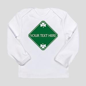 St Patricks Day Border Long Sleeve Infant T-Shirt
