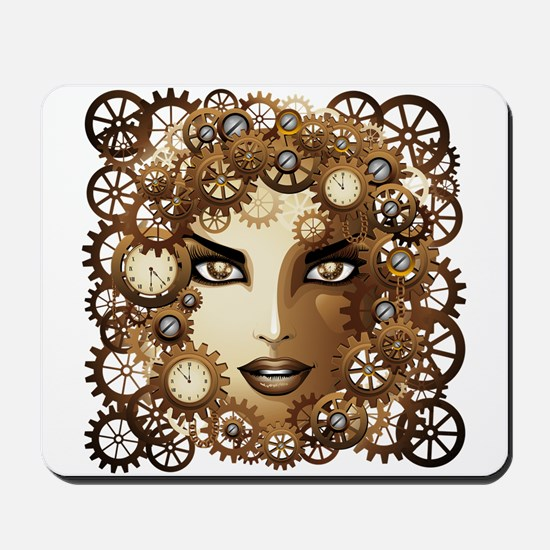 Steampunk Girl Portrait Mousepad