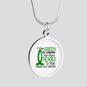 Means World to Me 1 Cerebral Silver Round Necklace